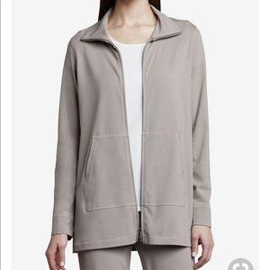 Eileen Fisher Organic Cotton Zip Up Jacket S